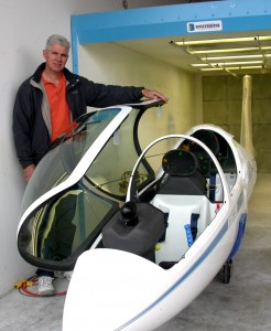 Inside two hangars at Arlington Airport, Pacific AeroSport even has a paint booth for gliders. Chris Klix mixes his own paint and finishes for the planes.