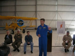 Astronaut Jeff Ashby spoke to young people at the Colorado Springs and Centennial tour stops, motivating them to follow their dreams. NASA was one of several partner organizations whose assistance spoke highly of the aviation community.
