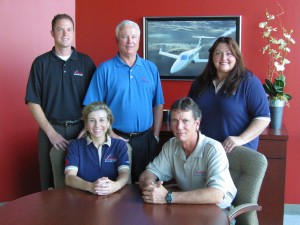 The Texas sales team includes (L to R) Patrick Rydzewski, Craig Smith, Sheila Campbell, and, seated, Amy Newman and Michael Hedding.