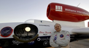 Steve Fossett achieved the first solo nonstop RTW speed record in the GlobalFlyer, in 2005. He made the 22,936-mile flight in 67 hr, 1 min, 10 sec.