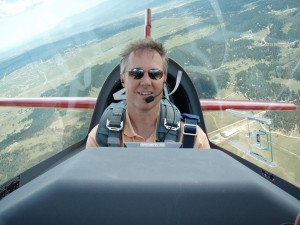 Jeff Puckett is a sucker for thrill rides, like the one he's taking here in his Extra 300L aerobatic aircraft.