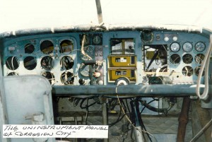 The instrument panel of Corrosion City.
