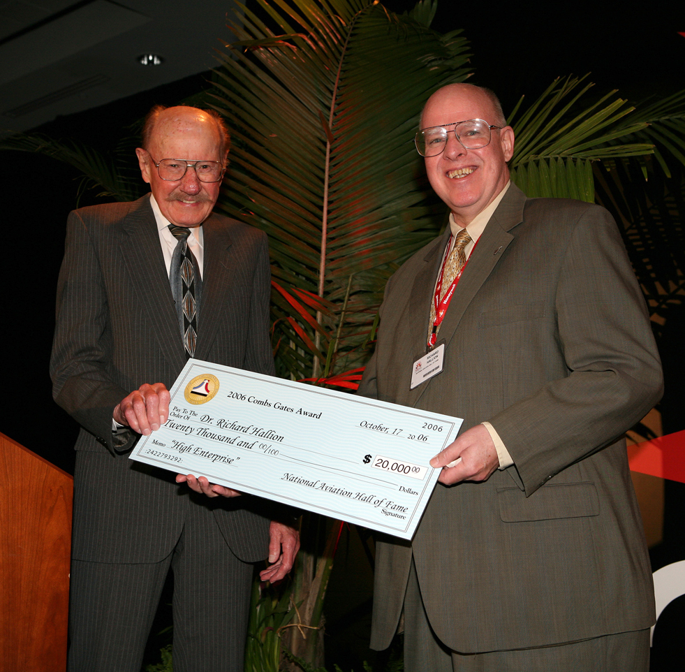 Dr. Hallion Earns National Aviation Hall of Fame's 2006 Combs Gates Award