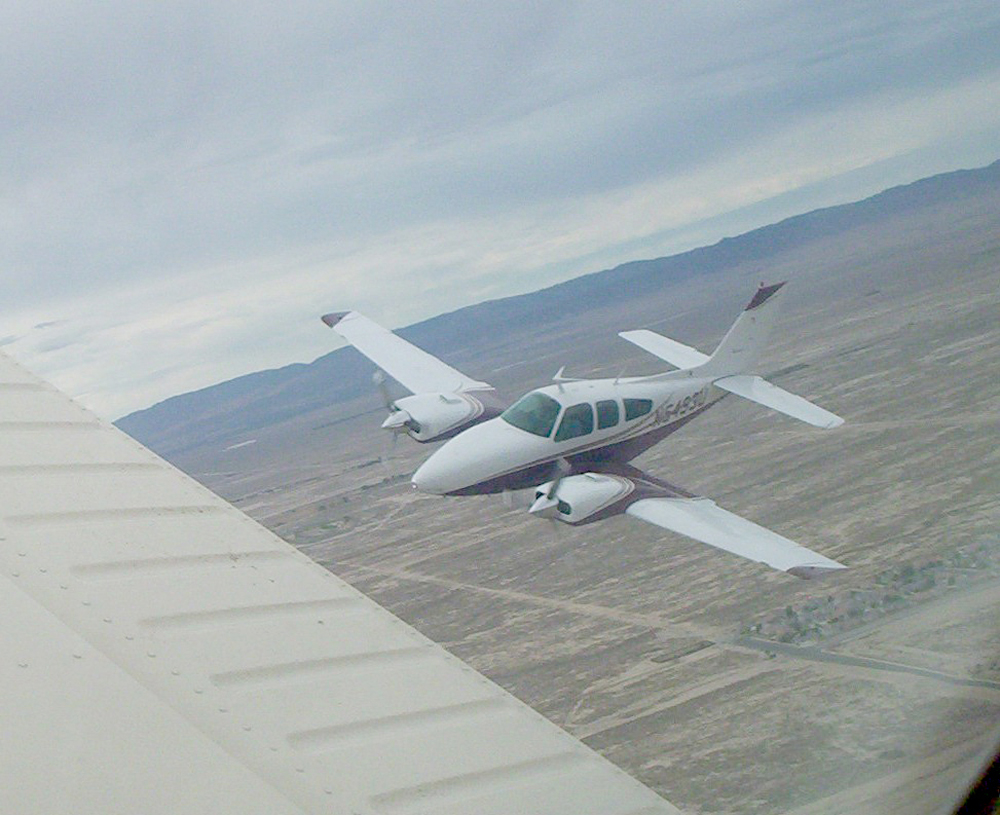 Flying Two Beech Aircraft