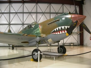 The Flying Heritage Collection includes this Curtiss P-40C Warhawk, once flown in combat with the Flying Tigers over China.