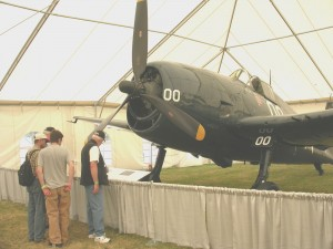 This Grumman F6F-5 Hellcat, which was on display at the 2005 Northwest EAA Arlington Fly-In in 2005, is one of the aircraft in the Flying Heritage Collection that will move to Paine Field.