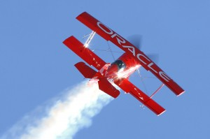 Sean D. Tucker performed in his custom-built Oracle Challenger biplane. Tucker has flown more than 700 performances at more than 300 air shows, thrilling an estimated 60 million fans throughout North America.