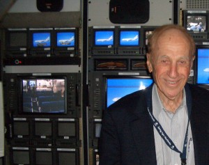 Al Ueltschi, shown in the DC-10 Flying Eye Hospital's audiovisual studio, serves as chairman of ORBIS International.