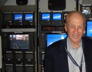 Al Ueltschi, shown in the DC-10 Flying Eye Hospital's audiovisual studio, serves as chairman of ORBIS International.
