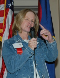 Christina Bently, chairman for the Colorado Chapter of the Ninety-Nines, accepted her chapter's award.