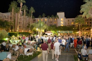 A welcome reception for members was held poolside at the Wyndham Hotel.