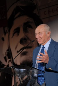 "Gen. Charles E. ""Chuck"" Yeager was honored with the Spreading Wings Award, at Wings Over the Rockies Air and Space Museum's fourth annual Spreading Wings Gala."
