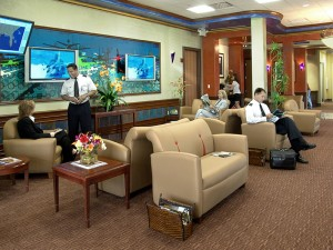The handsomely appointed terminal at Avitat Boca Raton is comfortable for pilots and passengers alike. It features widescreen plasma televisions, broadband wireless access and private meeting facilities.