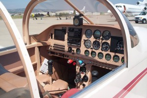 This RV-6A had all the critical engine and navigation instruments arranged for the pilot in the right seat.