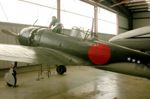 Zero no. 61-120 was a Mitsubishi design, produced under Nakajima license, and was the 2,357th aircraft of its type to come off the Nakajima production line.