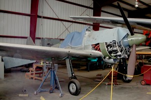 Fighter Rebuilders is restoring an A6M3 at the Planes of Fame. The plane is one of three wrecked Zeros that were originally rebuilt in Russia.