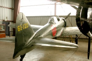 This A6M5 is painted in the markings of the 261st Japanese Naval Air Corps, which it bore in combat.