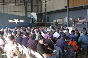 The Planes of Fame hosts a special event the first Saturday of each month. Mark Foster, the museum's general manager, opened the December event, which featured the Japanese Zero.