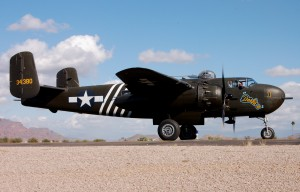 "Barbie III is a meticulously restored, cannon-nosed B-25, and the only ""H"" model flying in the world today."