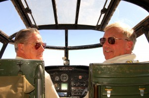 Barbie III's pilots include Ray Hillson (left) and Jack Fedor.