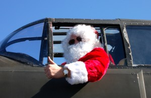 Christmas 2006 marked the second year that B-25 pilot Jack Fedor donned his Santa suit to greet children at Anzio Landing Italian Restaurant.