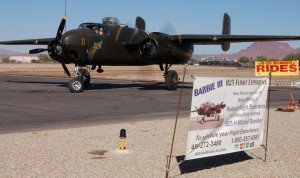 The B-25 is based on the ramp behind Anzio Landing Italian Restaurant.