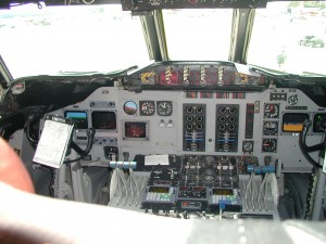 The cockpit on a BT-67 is clean and orderly, and some glass instruments make piloting chores easier.