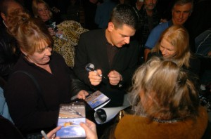 "Brian J. Terwilliger answers questions and signs copies of ""One Six Right."""