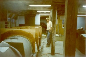 Alan Klapmeier is in the lower level of the farm's barn, where they began work on their VK-30 in 1984.