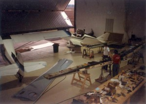 The brothers moved into the family's farmhouse to be closer to their project. They later built a hangar on the farm.