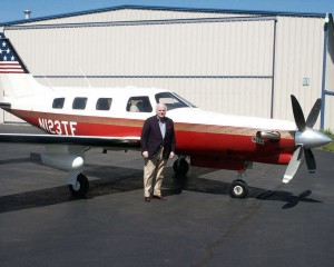 Stuart Woods flies to book signings in his Piper Malibu Mirage JetProp, modified with a Pratt & Whitney PT6A-35 turbine engine.