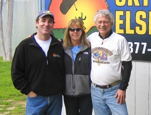 L to R: Russ Moran, Kim Smith and Jim Lawler are members of four-way Team Mayhem, which routinely uses SkyVenture Colorado to perfect their skydiving maneuvers.