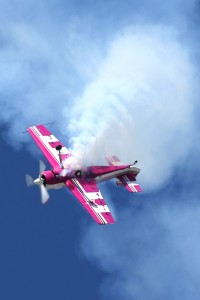 Doug Jardine performs aerobatics in his Russian-built Sukhoi 26 MX.