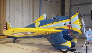 "After The Air Museum Planes of Fame's 50th anniversary celebration, Steve Hinton, museum president, flew the world's only flying Boeing P-26A ""Peashooter,"" the museum's pre-WWII U.S. Army Air Corps fighter."