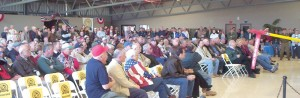An estimated 700 members, guests and visitors attended the dedication of the 15,000-square-foot Edward T. Maloney Display Hangar.