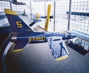 This Grumman Tiger flew in early Blue Angels shows. The Grumman Aircraft Engineering Company provided jobs to thousands of Long Islanders during World War II.