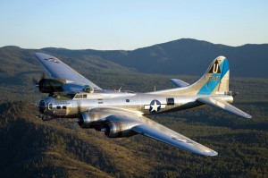"""A Night in the '40s"" will feature a World War II musical show and a big band orchestra, playing sounds of the era to dancing men and women dressed in the period—all in the shadow of the B-17 Flying Fortress Sentimental Journey."