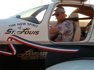 Erik Lindbergh, shown at Boeing Field, made his first Angel Flight mission, AFW mission 132539, on Aug. 19, 2006. He was flying his Lancair Columbia 300, the New Spirit of St. Louis, in which he recreated his grandfather's crossing of the Atlantic Ocean.