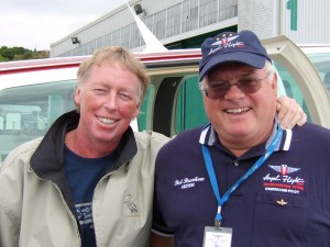 Bob Brunkow (right) transported Brad to Boeing Field from Blaine, Wash., near the Canadian border. Brad was in Seattle for radiation and chemotherapy treatments at Virginia Mason Medical Center.