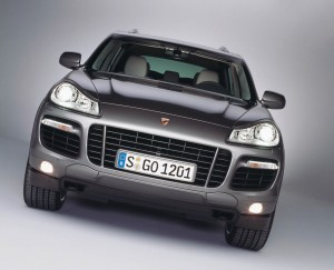 The remodeled 2008 Porsche Cayenne features a dramatic new headlight design, broader wheel arches and a more muscular, aggressive front end.