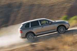 The Cayenne comes standard with a reinforced transmission and advanced stability controls for off-road adventures.