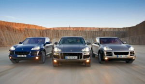 Three different configurations of Porsche's SUV include the standard Cayenne, the V8-powered Cayenne S and the robust Cayenne Turbo.