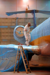 Wing Aviation recently added a third paint hangar at its primary facility at CXO.