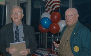 Dr. Dave Callender (left) shares insights about Bill Bower.