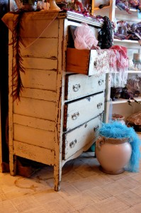 Bello Designs crafted this one-of-a-kind antique dresser locally. It sells for $695 at Rumours.