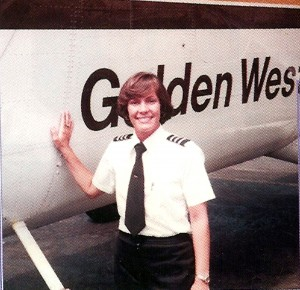 When Julie Clark started flying for Golden West in 1977, she was the only woman among 110 pilots.