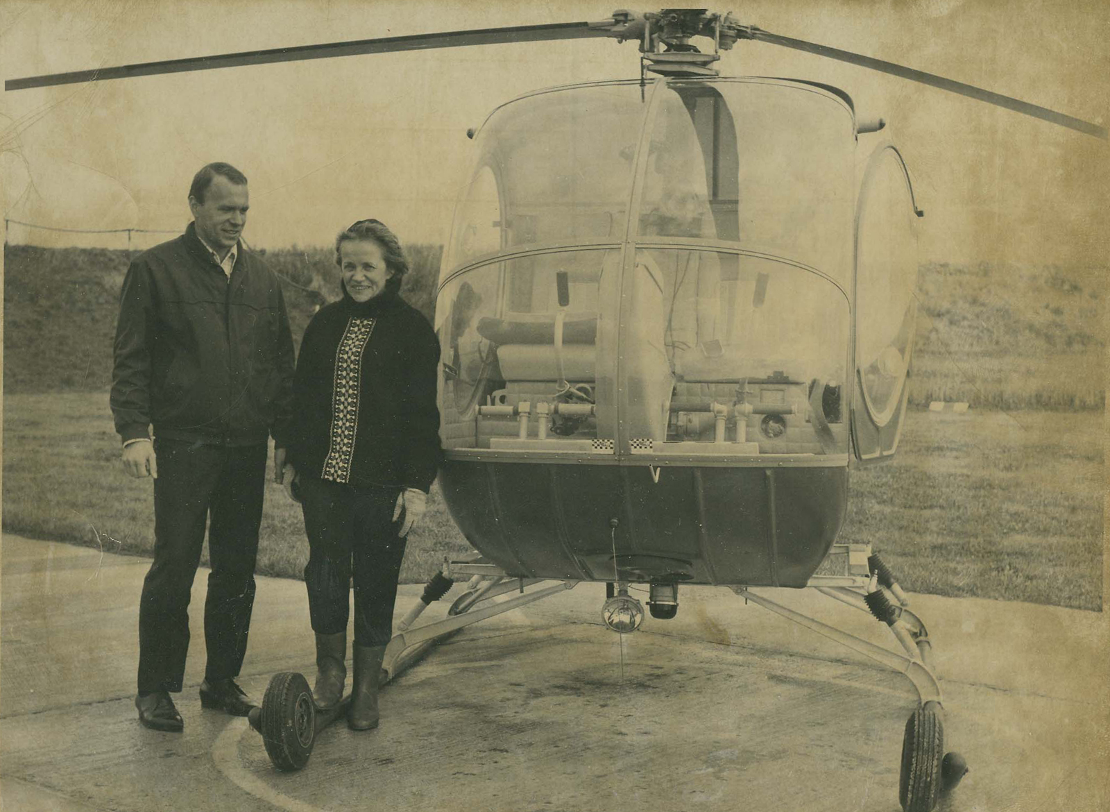 The first woman in the world to earn a helicopter rating was Hanna Reitsch, Whirly-Girl #1. Reitsch flew the first true vertical flight machine, a Focke Achgelis helicopter, in 1938. Development of the commercial helicopter halted during World War II.