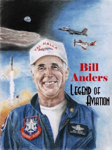 Original Art Portrait of Maj. Gen. Bill Anders by Andrea Parks