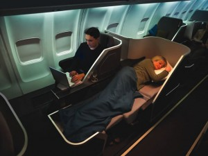 B/E Aerospace's seating products encompass the entire spectrum of seating available for commercial aircraft. This seat is an ergonomically advanced Lie-Flat POD.