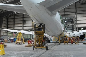 TIMCO recently began offering scheduled line maintenance services at a number of airports in North America. Aircraft overhaul services generate about 80 percent of the company's sales.